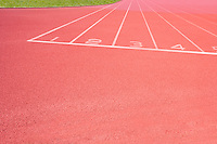Close-up of Athletics track