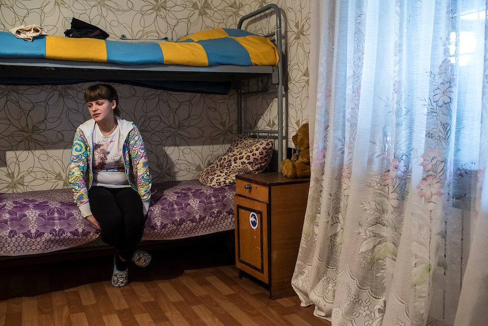 YEKATERINBURG, RUSSIA - OCTOBER 16: Svetlana, a 22-year-old heroin addict from Perm, talks about her 2-year-old son during her treatment for drug addiction at City Without Drugs on October 16, 2013 in Yekaterinburg, Russia. City Without Drugs is a well-known narcotics treatment program in Russia founded by Yevgeny Roizman, who was elected mayor of Yekaterinburg in September 2013. (Photo by Brendan Hoffman/Getty Images) *** Local Caption ***