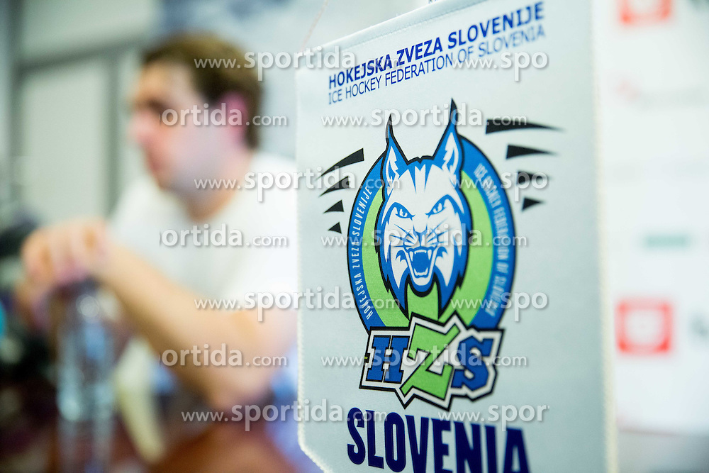 Anze Kopitar during press conference prior to the IIHF World Championship in Ostrava (CZE), on April 21, 2015 in Hala Tivoli, Ljubljana, Slovenia. Photo by Vid Ponikvar / Sportida