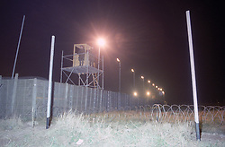 Rollestone army camp near Shrewton, Wiltshire, which is used as a holding centre for Iraqi detainees and prisoners of war. Soldiers have been making last minute preparations at the base, which has been used as a makeshift jail three times in the last 10 years.