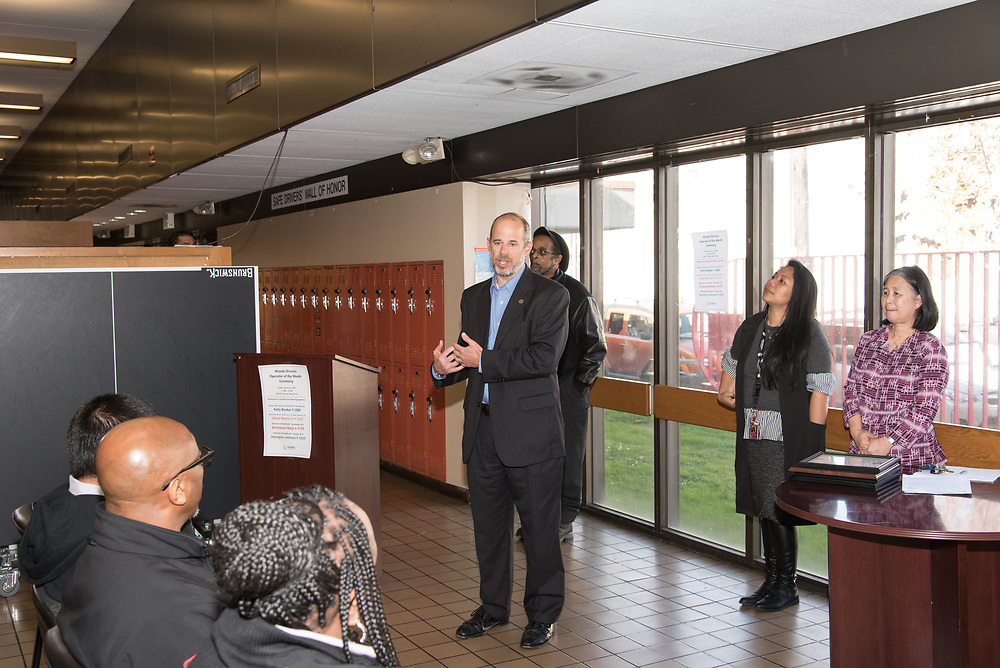 Director of Transportation Ed Reiskin Speaking at Woods Division Systemwide Operator of the Month Ceremony | January 12, 2018