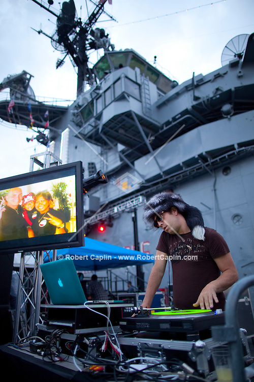 DJ RB at the Wounded Warriors Gala at the Intrepid Sea, Air & Space Museum in New York. ..Photo by Robert Caplin.