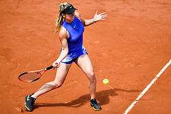 PARIS, May 30, 2017  Elina Svitolina of Ukraine returns the ball to Yaroslava Shvedova of Kazakhstan during the women's singles 1st round match at the French Open Tennis Tournament 2017 in Paris, France on May 30, 2017. (Credit Image: © Chen Yichen/Xinhua via ZUMA Wire)