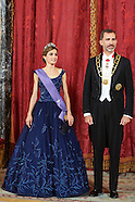 070715 Spanish Royals host a gala dinner with President of Peru and wife