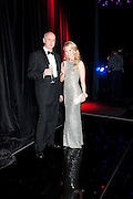 STEVEN SHEPPARD; KATARINA BORISOVA. Grey Goose Winter Ball to Benefit the Elton John AIDS Foundation. Battersea park. London. 29 October 2011. <br /> <br />  , -DO NOT ARCHIVE-© Copyright Photograph by Dafydd Jones. 248 Clapham Rd. London SW9 0PZ. Tel 0207 820 0771. www.dafjones.com.