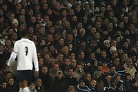 Fotball<br /> Carling Cup England 2004/2005<br /> Kvartfinale<br /> 01.12.2004<br /> Foto: BPI/Digitalsport<br /> NORWAY ONLY<br /> <br /> Tottenham Hotspur v Liverpool<br /> <br /> Tottenham fans have lost confidence in their number 9 Frederic Kanoute