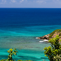 View of ocean from Water Island in St. Thomas, USVI.