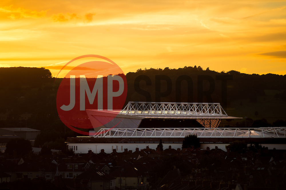 A General View of Ashton Gate Stadium, home of Bristol City and Bristol Rugby, during the Bristol Balloon Fiesta - Rogan Thomson/JMP - 13/08/2016 - SPORT - Ashton Gate Stadium - Bristol, England.