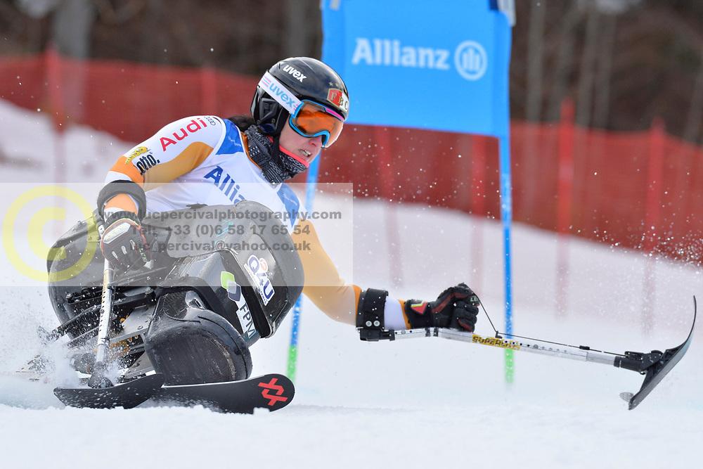 van BERGEN Barbara LW11 NED at 2018 World Para Alpine Skiing Cup, Kranjska Gora, Slovenia