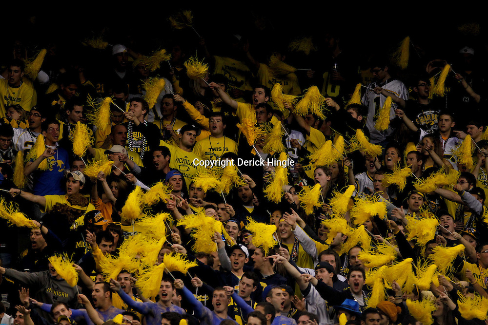 January 3, 2012; New Orleans, LA, USA; Michigan Wolverines fans in the stands during the first quarter of the Sugar Bowl against the Michigan Wolverines at the Mercedes-Benz Superdome.  Mandatory Credit: Derick E. Hingle-US PRESSWIRE