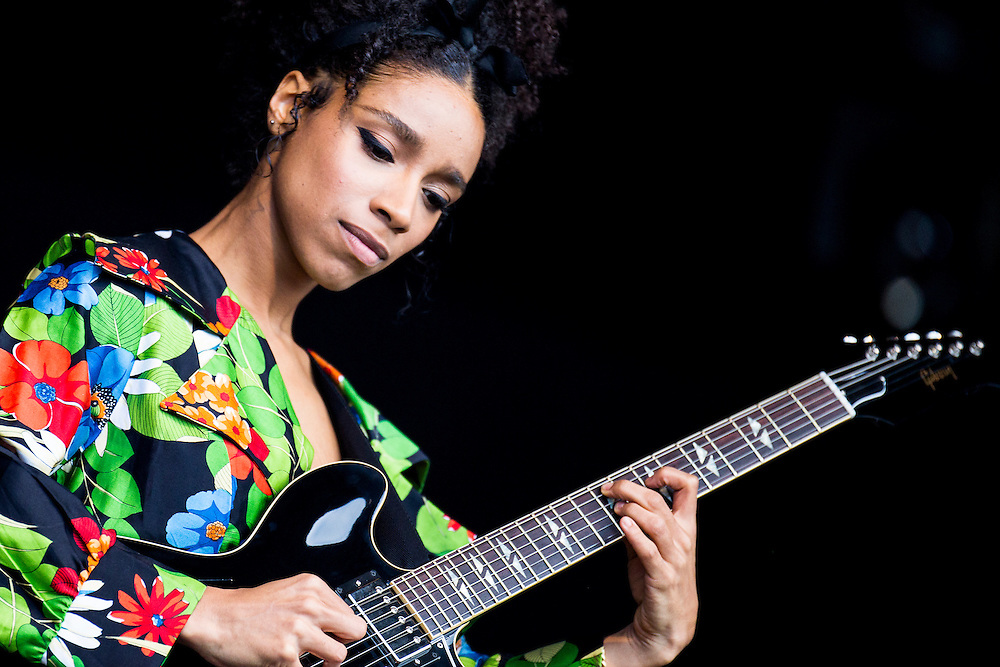 Singer Songwriter and amazing guitar player Lianne La Havas at Love Supreme Jazz Festival.