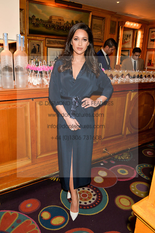 ROXIE NAFOUSI at a party to celebrate Alice Naylor-Leyland's Collaboration with French Sole held at Annabel's, 44 Berkeley Square, London on February 2nd 2016