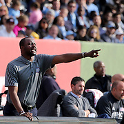 Patrick Vieira, head coach of NYCFC, reacts on the sideline  during the New York City FC Vs New England Revolution, MSL regular season football match at Yankee Stadium, The Bronx, New York,  USA. 26th March 2016. Photo Tim Clayton