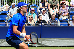 Noami Broady (1st row right) watches her brother Liam Broady  - Mandatory by-line: Matt McNulty/JMP - 31/05/2016 - TENNIS - Northern Tennis Club - Manchester, United Kingdom - AEGON Manchester Trophy