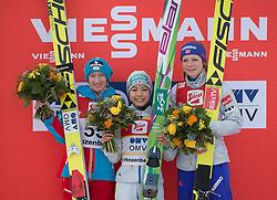 06.02.2016, Energie AG Skisprung Arena, Hinzenbach, AUT, FIS Weltcup Ski Sprung, Hinzenbach, Damen, Bewerb, im Bild v.l. 2. Platz Daniela Iraschko-Stolz (AUT), Siegerin Sara Takanashi (JPN), 3. Platz Maren Lundby (NOR) // during Ladies Skijumping Competition of FIS Skijumping World Cup at the Energie AG Skisprung Arena, Hinzenbach, Austria on 2016/02/06. EXPA Pictures © 2016, PhotoCredit: EXPA/ Reinhard Eisenbauer