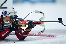 Solemdal Synnoeve of Norway competes during Ladies 7,5 km Sprint of the e.on IBU Biathlon World Cup on Thursday, December 14, 2012 in Pokljuka, Slovenia. The third e.on IBU World Cup stage is taking place in Rudno polje - Pokljuka, Slovenia until Sunday December 16, 2012. (Photo By Vid Ponikvar / Sportida.com)
