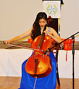 Miss Chinatown Houston, Sharon Liu, on the cello.