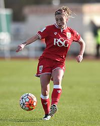 Megan Alexander midfielder/defender for Bristol City Women - Mandatory by-line: Paul Knight/JMP - Mobile: 07966 386802 - 14/02/2016 -  FOOTBALL - Stoke Gifford Stadium - Bristol, England -  Bristol Academy Women v QPR Ladies - FA Cup third round
