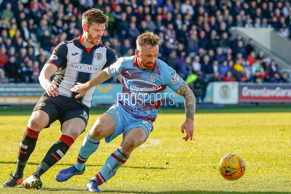*** during the Ladbrokes Scottish Premiership match between St Mirren and Dundee at the Paisley 2021 Stadium, St Mirren, Scotland on 30 March 2019.