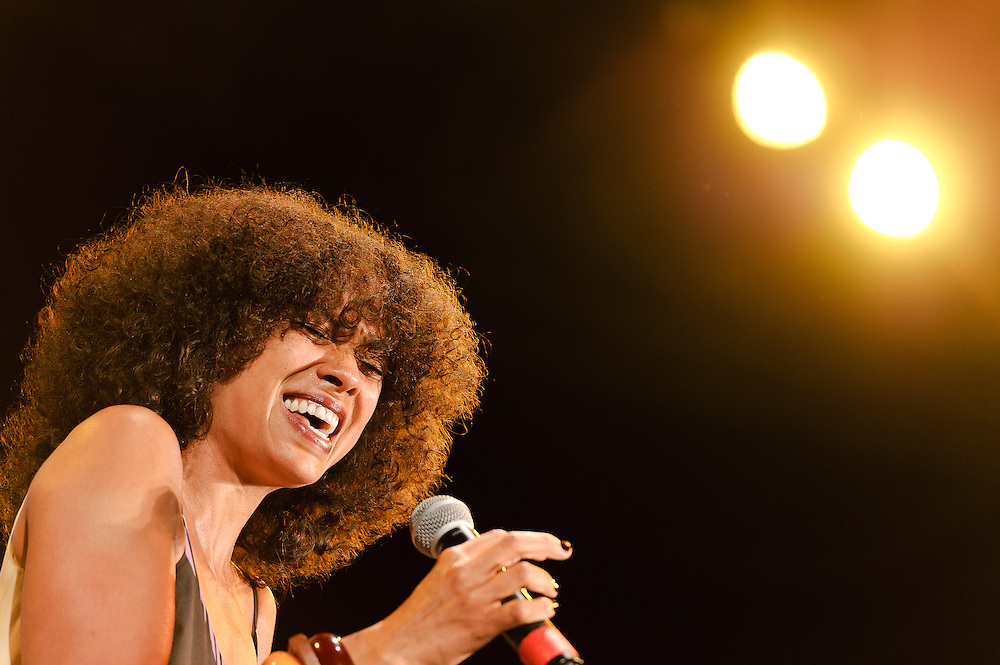 """Photos of singer Amel Larrieux performing at City Parks Foundation's SummerStage gala event, """"The Music of Jimi Hendrix"""", at Rumsey Playfield in Central Park, NYC. June 5, 2012. Copyright © 2012 Matthew Eisman. All Rights Reserved."""