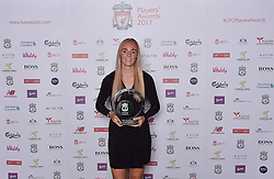 LIVERPOOL, ENGLAND - Tuesday, May 9, 2017: Liverpool Ladies' Sophie Ingle wins the Player of the Season 2017 Award sponsored by Avon at the Liverpool FC Players' Awards 2017 at Anfield. (Pic by Andrew Powell/Liverpool FC/Pool/Propaganda)