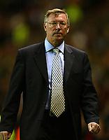 Fotball. UEFA Champions League. Første semifinale. 24.04.2002.<br /> Manchester United v Bayer Leverkusen 2-2.<br /> Alex Ferguson, manager Manchester United.<br /> Foto: David Rawcliffe, Digitalsport