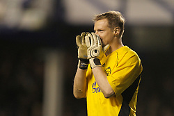 Liverpool, England - Wednesday, December 5, 2007: Zenit St. Petersburg's goalkeeper Vyacheslav Malafeev during the UEFA Cup Group A match against Everton at Goodison Park. (Photo by David Rawcliffe/Propaganda)