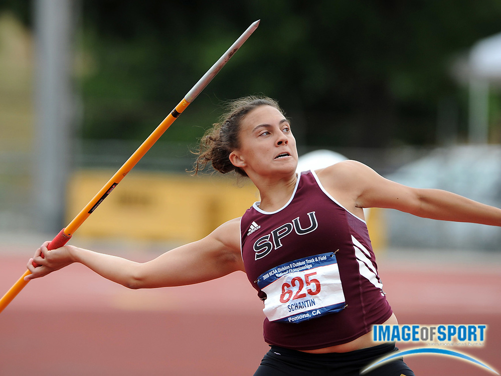May 24, 2008; Walnut, CA, USA; Jeeni Schantin of Seattle Pacific was fourth in the women's javelin at 145-9 (44.43m) in the NCAA Track & Field Championships at Mt. San Antonio College's Hilmer Lodge Stadium.