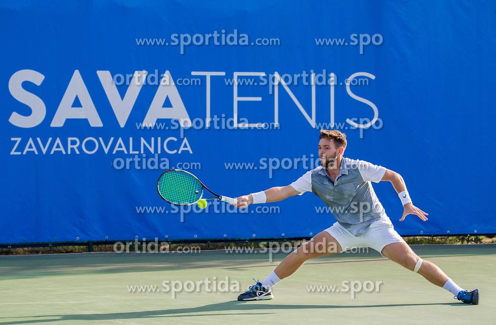 Sven Lah (SLO) plays against Franko Skugor (CRO) at 2nd Round of ATP Challenger Zavarovalnica Sava Slovenia Open 2017, on August 9, 2017 in Sports centre, Portoroz/Portorose, Slovenia. Photo by Vid Ponikvar / Sportida