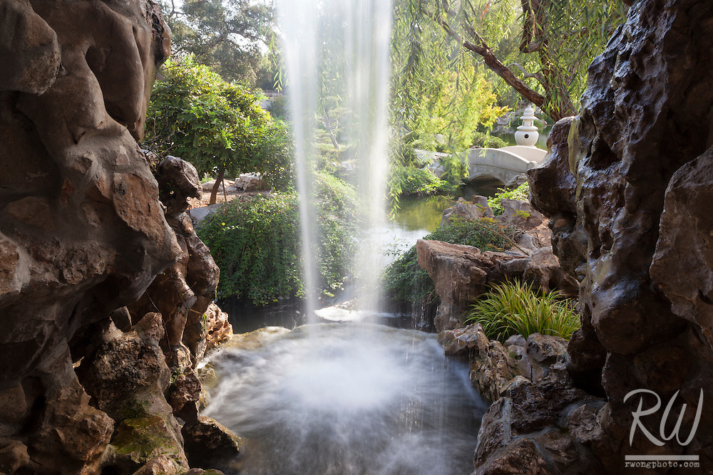 Chinese Garden Waterfall at The Huntington Botanical Gardens, San Marino, California