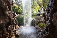 Chinese Garden Waterfall at The Huntington Botanical Gardens, San Marino, California