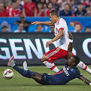 Paris St. Germain's Serge Aurier and SL Benfica's Lima in the International Champions Cup in Toronto.