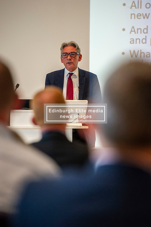 Pictured: Richard Leonard<br />Gordon Brown addressed thenew Scottish think tank seminar today.  He was joined by Shadow Scottish secretary Lesley Laird and Scottish Labour leader Richard Leonard who also spoke at the inaugural meeting of Our Scottish Future<br /><br />Ger Harley   EEm 30 August 2019