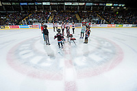 KELOWNA, CANADA - MARCH 18: Young fans play musical chairs during intermission between the Kelowna Rockets and the Seattle Thunderbirds on March 18, 2015 at Prospera Place in Kelowna, British Columbia, Canada.  (Photo by Marissa Baecker/Shoot the Breeze)  *** Local Caption *** fans;