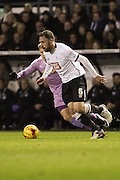 Derby County defender Richard Keogh wins the ball during the Sky Bet Championship match between Derby County and Reading at the iPro Stadium, Derby, England on 12 January 2016. Photo by Aaron Lupton.