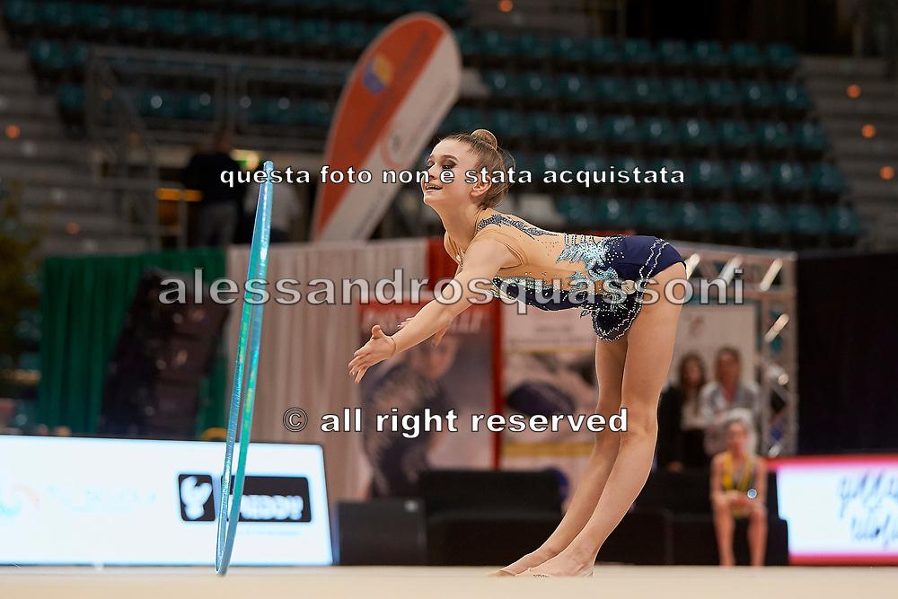 Camilla De Luca from Aurora Fano team during the Italian Rhythmic Gymnastics Championship in Bologna, 9 February 2019.
