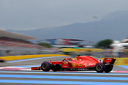 June 23, 2018 - Le Castellet, Var, France - Ferrari 7 Driver KIMI RAIKKONEN (FIN) in action during the Formula one French Grand Prix at the Paul Ricard circuit at Le Castellet - France. (Credit Image: © Pierre Stevenin via ZUMA Wire)