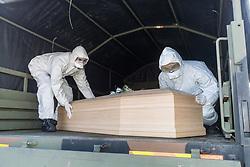 ARRIVO SALME DA BERGAMO DESTINATE ALLA CREMAZIONE<br /> EMERGENZA CORONAVIRUS