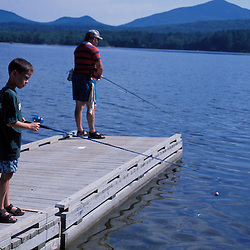 Weld, ME. Fishing in Webb Lake in Mt. Blue State Park. Northern Forest.