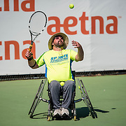 August 24, 2016, New Haven, Connecticut: <br /> A wheelchair tennis clinic is held during Day 6 of the 2016 Connecticut Open at the Yale University Tennis Center on Wednesday, August  24, 2016 in New Haven, Connecticut. <br /> (Photo by Billie Weiss/Connecticut Open)