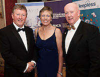 repro free: Sean and Geraldine Canney  and Pat Carter, Sligo IT  Chairman SCSI West Branch at the Society of Chartered Surveyors of Ireland West branch Annual Dinner 2017 at the Ardilaun Hotel, Galway. Photo:Andrew Downes.