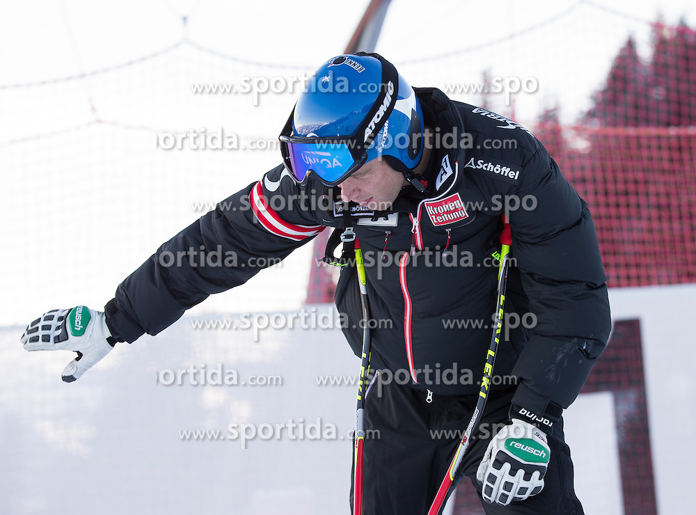 23.01.2013, Streif, Kitzbuehel, AUT, FIS Weltcup Ski Alpin, Abfahrt, Herren, 2. Training, im Bild Benjamin Raich (AUT) // Benjamin Raich of Austria at the Course inspection during 2nd practice of mens Downhill of the FIS Ski Alpine World Cup at the Streif course, Kitzbuehel, Austria on 2013/01/23. EXPA Pictures © 2013, PhotoCredit: EXPA/ Johann Groder