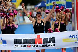 27.07.2014, Zürich, SUI, Ironman Zuerich 2014, im Bild Daniela Ryf (SUI) // during the Zurich 2014 Ironman, Switzerland on 2014/07/27. EXPA Pictures © 2014, PhotoCredit: EXPA/ Freshfocus/ Claude Diderich<br /> <br /> *****ATTENTION - for AUT, SLO, CRO, SRB, BIH, MAZ only*****