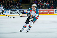 KELOWNA, CANADA - FEBRUARY 18: Tyrell Goulbourne #12 of Kelowna Rockets skates against the Kamloops Blazers on February 18, 2015 at Prospera Place in Kelowna, British Columbia, Canada.  (Photo by Marissa Baecker/Shoot the Breeze)  *** Local Caption *** Tyrell Goulbourne;