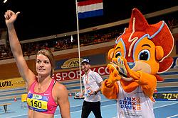 27-02-2016 NED: NK Atletiek Indoor, Apeldoorn<br /> Dafne Schippers wint de finale op de 60m en pakt goud in 7.03