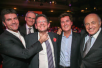 Left to Right Simon Cowell, Vivendi CEO Jean-Bernard Lévy, Lucian Grainge (MIT Awards recipient and Universal Music Group International Chairman/CEO) Simon Fuller (chief executive, 19 Entertainment) and Doug Morris, Chairman and CEO, Universal Music Group