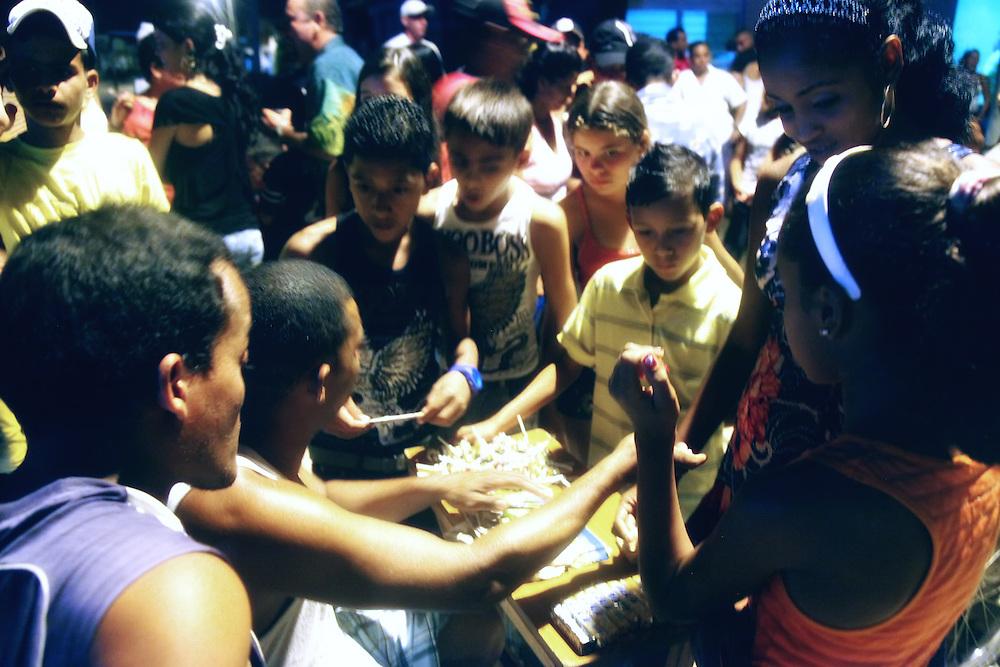 Candy on a Saturday night, Niquero, Granma, Cuba.