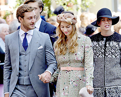 July 8, 2017 - Hanover, GERMANY - 08-07-2017 Wedding of Prince Ernst August of Hanover and Ekaterina 'Katya' Malysheva at the Marktkirche (church) in Hanover, Germany. Pierre Casiraghi and Beatrice Borromeo and Charlotte Casiraghi.© PPE/Nieboer.Credit: PPE/face to face.- No Rights for Netherlands  (Credit Image: © face to face via ZUMA Press)