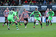 Forest Green Rovers Darren Carter on the ball during the Vanarama National League match between Cheltenham Town and Forest Green Rovers at Whaddon Road, Cheltenham, England on 21 November 2015. Photo by Shane Healey.