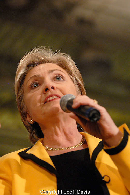 ROCK HILL, SC - January 25, 2008: Hillary Clinton delivers her stump speech in Rock Hill, South Carolina. <br /> <br /> The next day Clinton lost the South Carolina Democratic Presidential primary by more than 28% to Barack Obama.